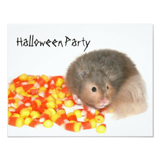 Hamster Halloween Party Card