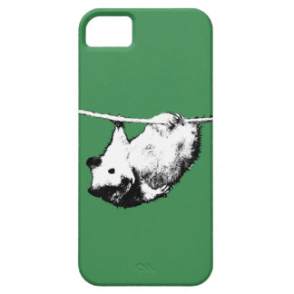 Hamster hanging out, Green iPhone case