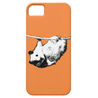 Hamster hanging out, orange iPhone case