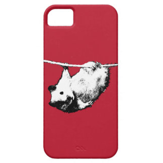 Hamster hanging out, Red iPhone case