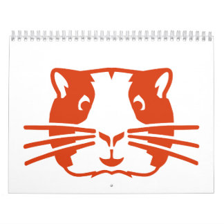 Hamster head face calendars