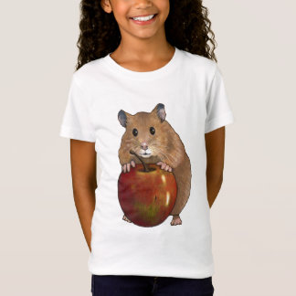 Hamster Holding Big Apple: Original Pastel Art T-Shirt