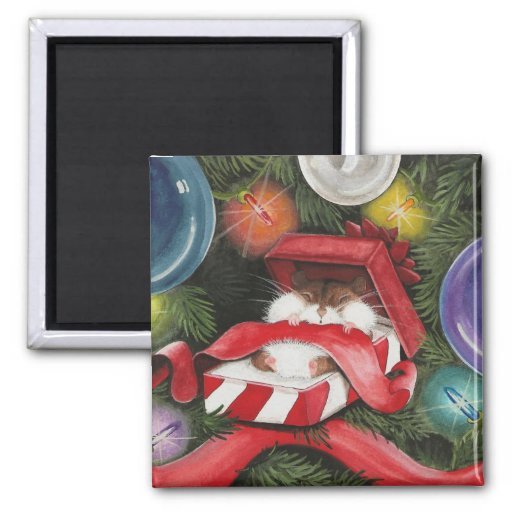 Hamster Holiday Magnet
