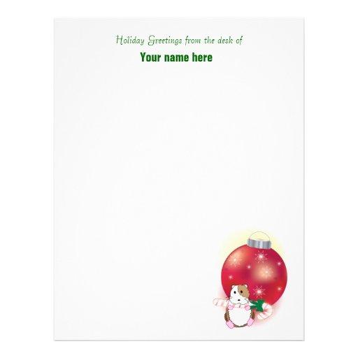Hamster Holidays Letterhead