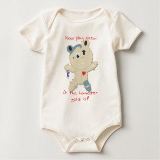 hamster hostage baby bodysuit