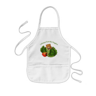 Hamster: I Always Eat My Veggies: Cabbage: Kids Kids' Apron