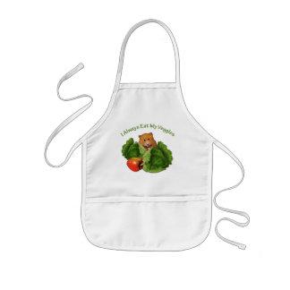 Hamster: I Always Eat My Veggies: Cabbage: Kids Kids' Apron