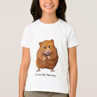 Hamster: I Love My Hammy: Color Pencil Art T-Shirt