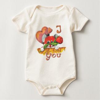 Hamster I love you Baby Bodysuit