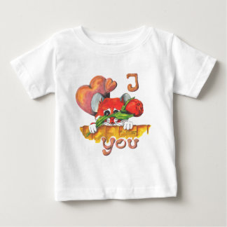 Hamster I love you Baby T-Shirt
