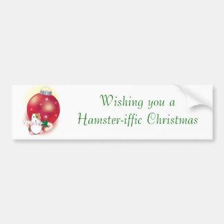 Hamster-iffic Christmas Bumper Sticker