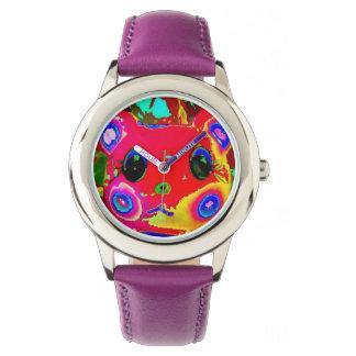 hámster ilustración-rechoncho digital relojes de pulsera