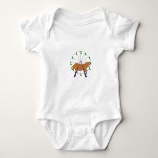 Hamster in a farris wheel baby bodysuit