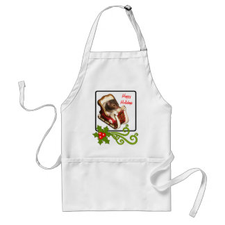 Hamster in a sled adult apron