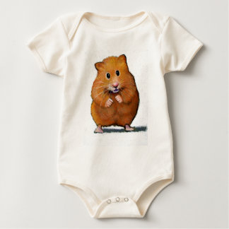HAMSTER IN COLOR PENCIL BABY BABY BODYSUIT