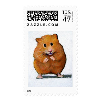 HAMSTER IN COLOR PENCIL POSTAGE