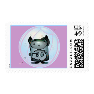 Hamster in Exercise Ball Postage Stamp