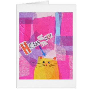 Hamster! in Pink Greeting Card