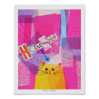 Hamster! in Pink Poster