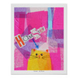 Hamster! in Pink Posters