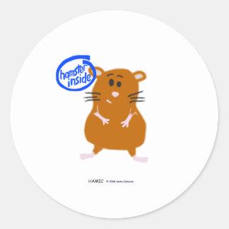 Hamster Inside Classic Round Sticker