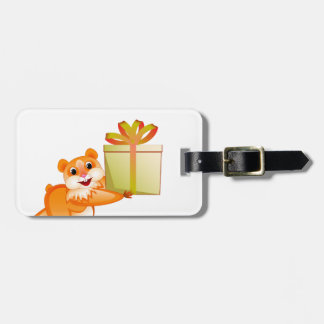 Hamster keeps the gift luggage tag