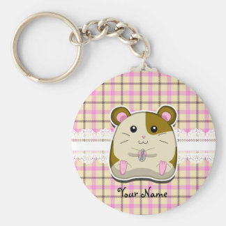 Hamster Basic Round Button Keychain