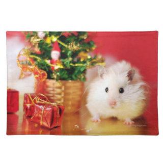 Hamster Kokolinka with Christmas tree Placemat