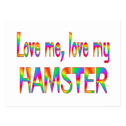 Hamster Love Postcard