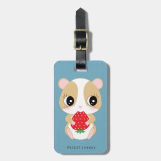 Hamster love strawberry by Pocket*Lounge Luggage Tag