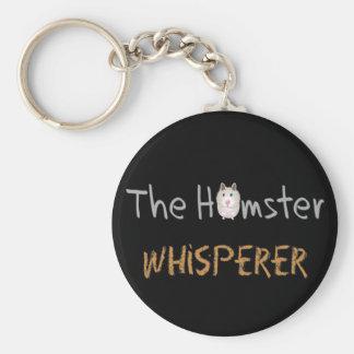 """Hamster Lover Gifts """"The Hamster Whisperer"""" Keychain"""