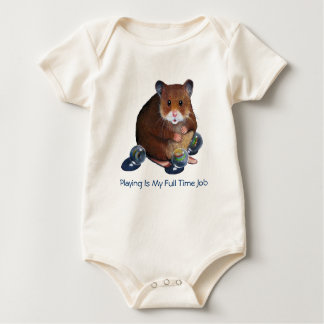 Hamster & Marbles: Playing Is My Full Time Job Baby Bodysuit