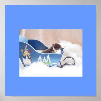 Hamster noah sledding poster