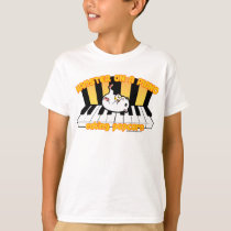 Hamster on a piano eating popcorn T-Shirt