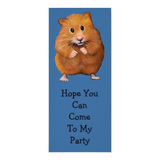 HAMSTER PARTY INVITATION: Original Art Card
