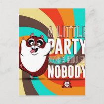Hamster Party Invitation Postcard