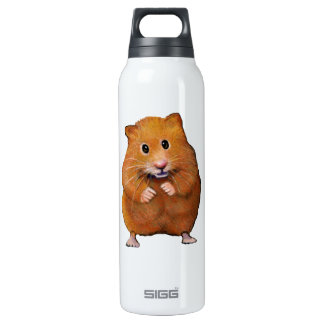 Hamster: Pet: Color Pencil Freehand Art 16 Oz Insulated SIGG Thermos Water Bottle