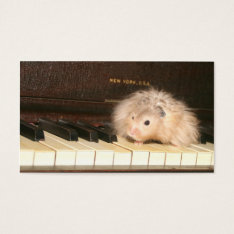 Hamster Piano Business Card at Zazzle