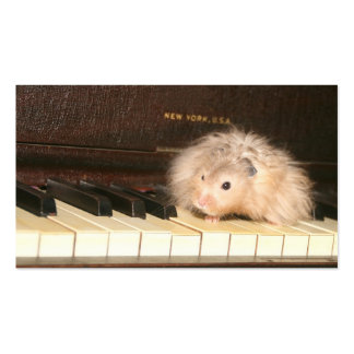 Hamster piano business card