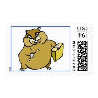 hamster postage stamp
