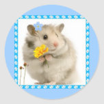 hamster round stickers