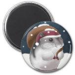 Hamster Santa Fridge Magnets