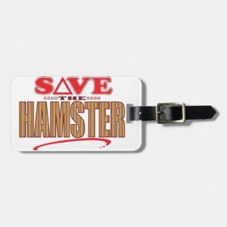 Hamster Save Bag Tag