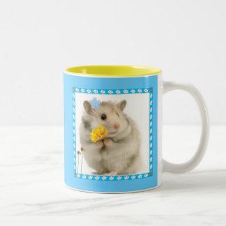 hámster taza de café de dos colores