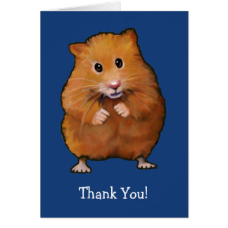 HAMSTER: THANK YOU CARD: ART CARD