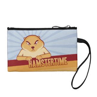Hamster Time Wristlet Change/Key Purse