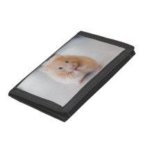 hamster tri-fold wallet