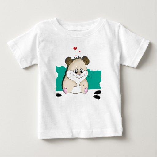 hámster triste camisetas