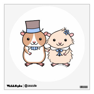 Hamster Wedding Couple Wall Sticker