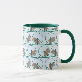 Hamster Wheel Mug (green)